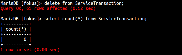 mysql delete all data from table