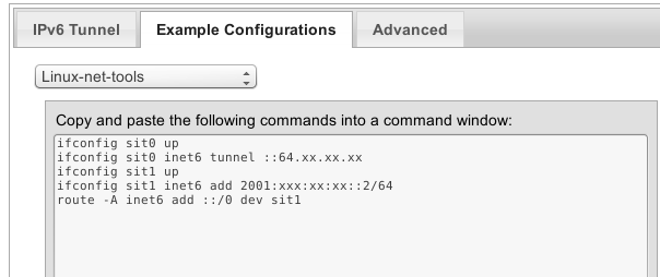 ipv6 config on linux