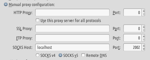 socks proxy firefox