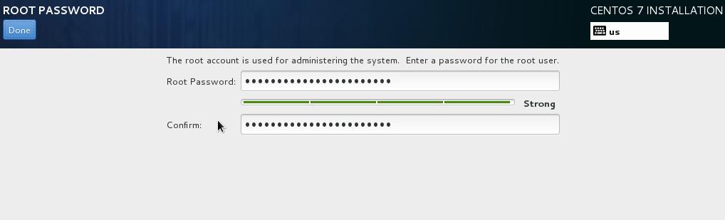 masukkan password root