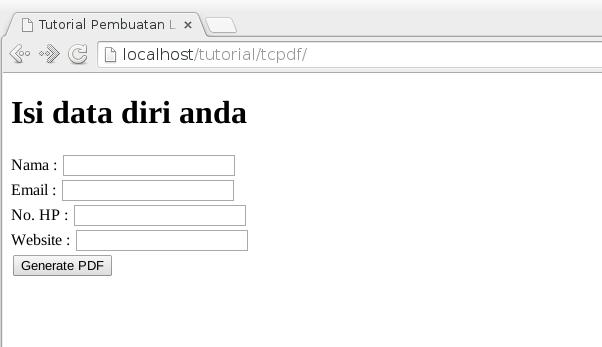 input user tcpdf