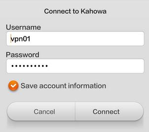username password vpn android