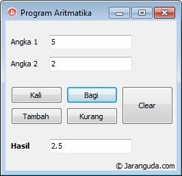 contoh aplikasi aritmatika delphi xe