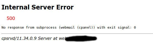 cpanel internal server error