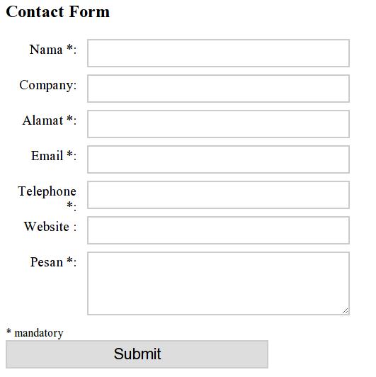 kontak form css