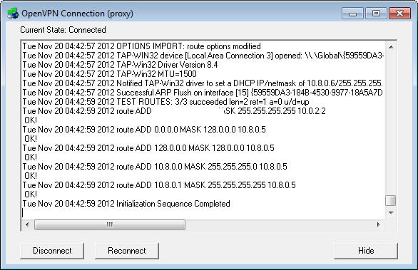 OpenVPN Connect But No Internet Connection