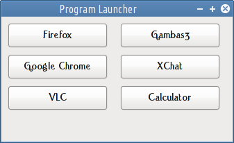 program launcher gambas3