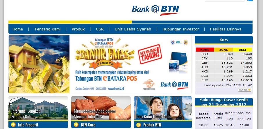 Mengambil Kurs Mata Uang dari Bank BTN