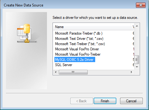 create new data source'