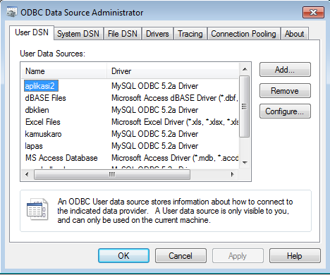 odbc source data administrator