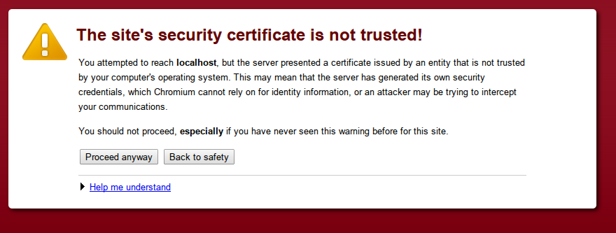 ssl error warning