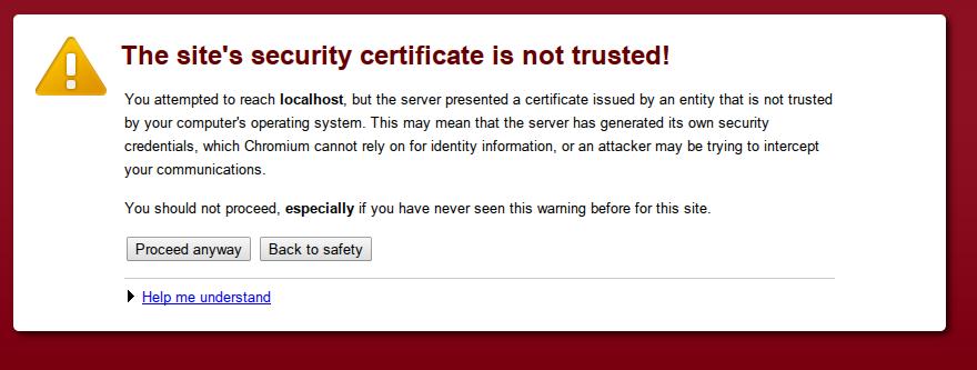 ssl error warning