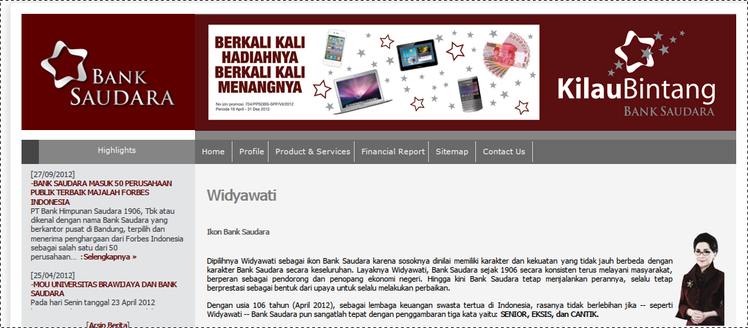 website bank saudara