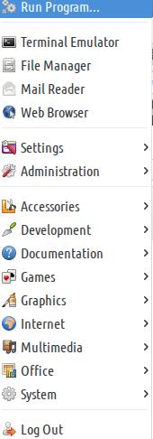Application Menu icon xfce