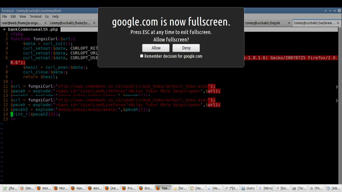 Keanehan Allow Fullscreen di Firefox