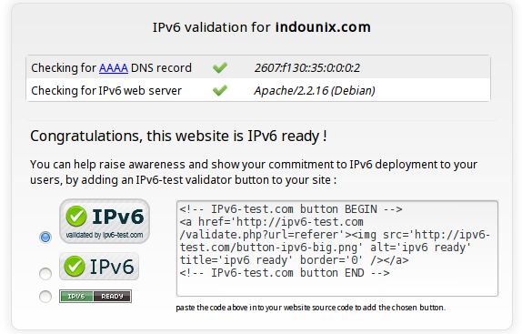 testing ipv6