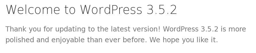Segera Upgrade WordPress anda ke Versi 3.5.2