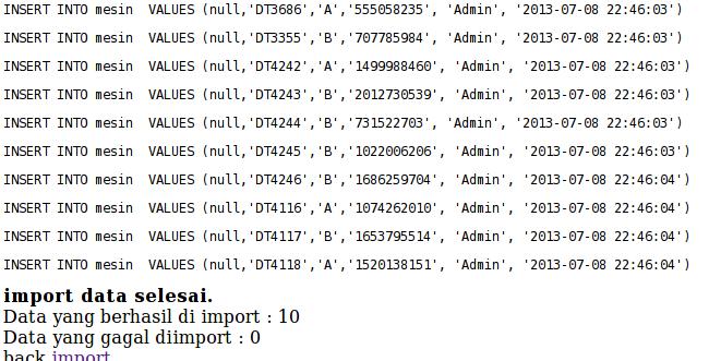 proses import data