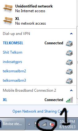 setting dua modem xl di komputer windows 7