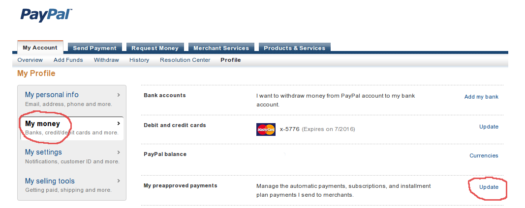 my money subscription