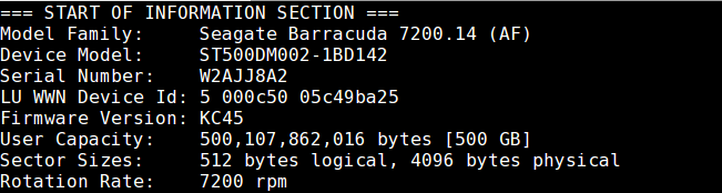 cek tipe hardisk di linux