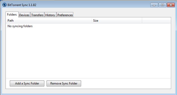 tampilan Bittorrent Sync Windows