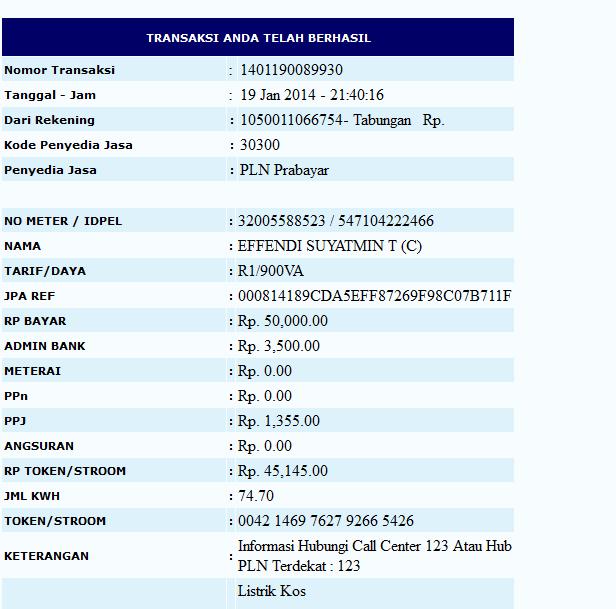 Kode yang dimasukkan kedalam meteran listrik PLN adalah 12 angka yang ...