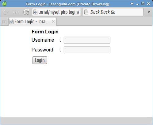 Membuat Script Login Sederhana dengan PHP dan MySQLi