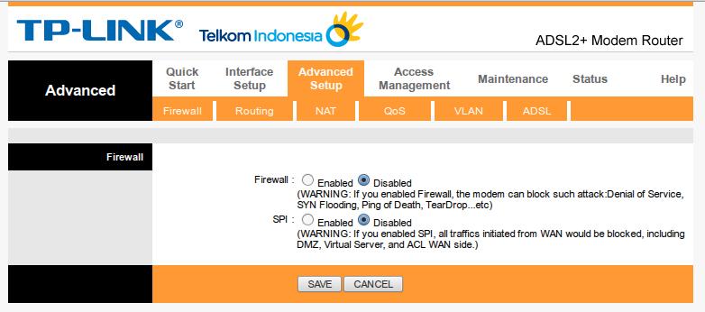 Setting NAT Port Forwarding Telkom Speedy