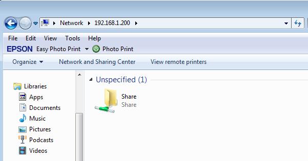 muncul folder share