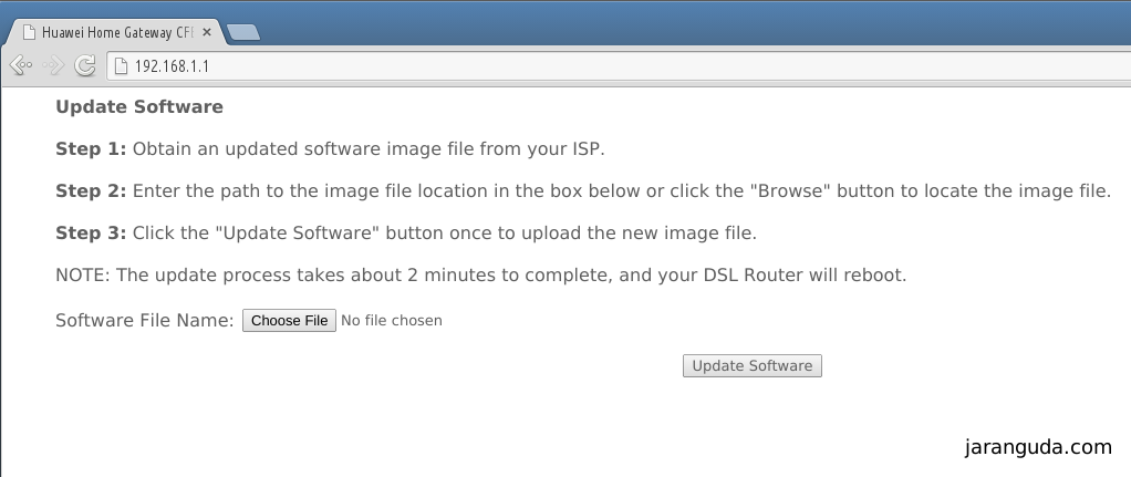 update software HG553
