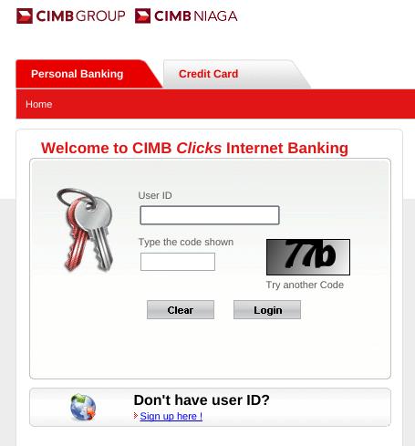 cimb click online