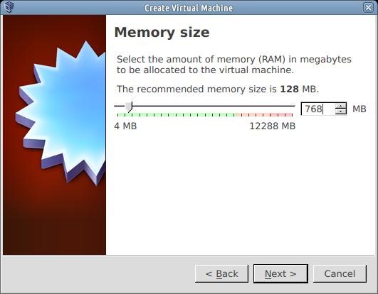 memory size pfsense virtualbox