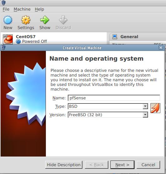 virtualbox pfsense 1