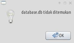 database tidak ditemukan