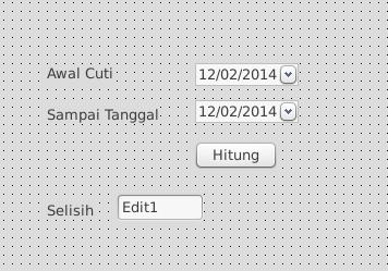 design selisih tanggal