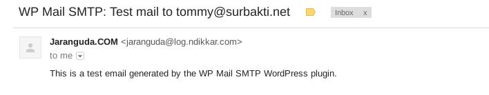 smtp test mail
