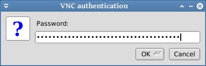 masukkan password vnc