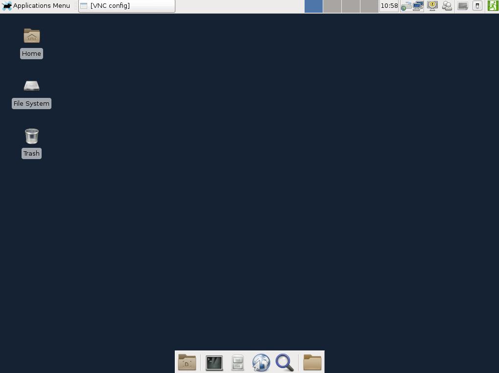 tampilan vnc di client