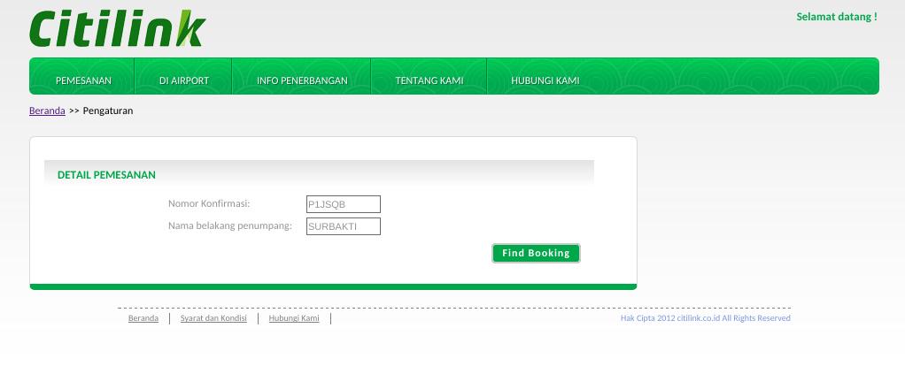 Cara Web Check In Citilink Jaranguda Com