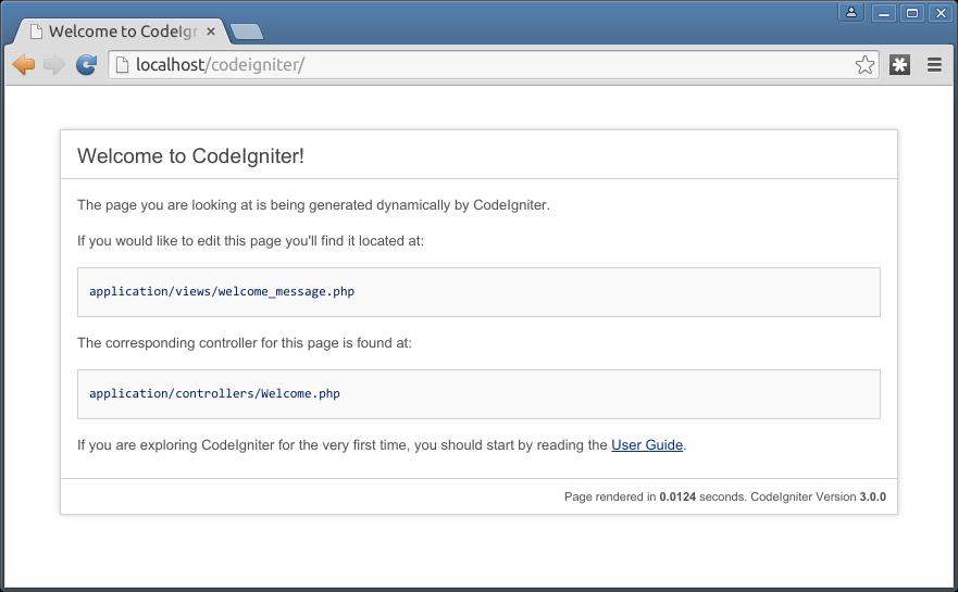tampilan default codeigniter3