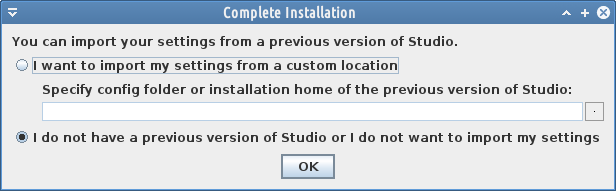 complete instalation android studio