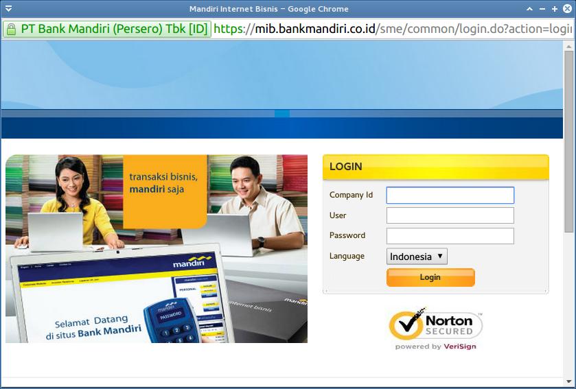 Tahap 1 Internet Banking Mandiri - Login