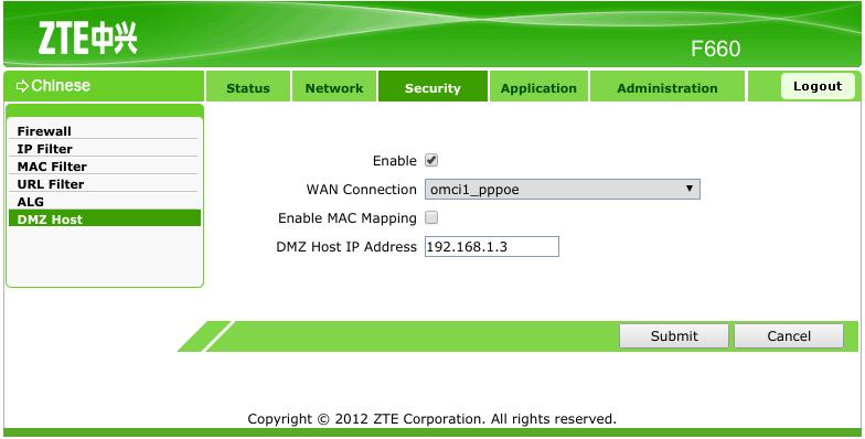 Setting vpn di modem zte f660