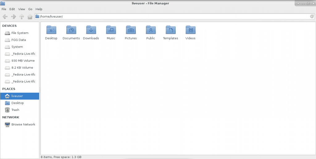 File Manager XFCE