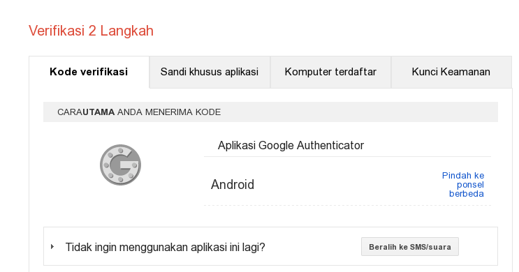 google authenticaticator