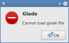 cannot load glade