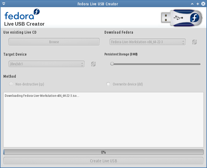 download iso from usblive creator fedora