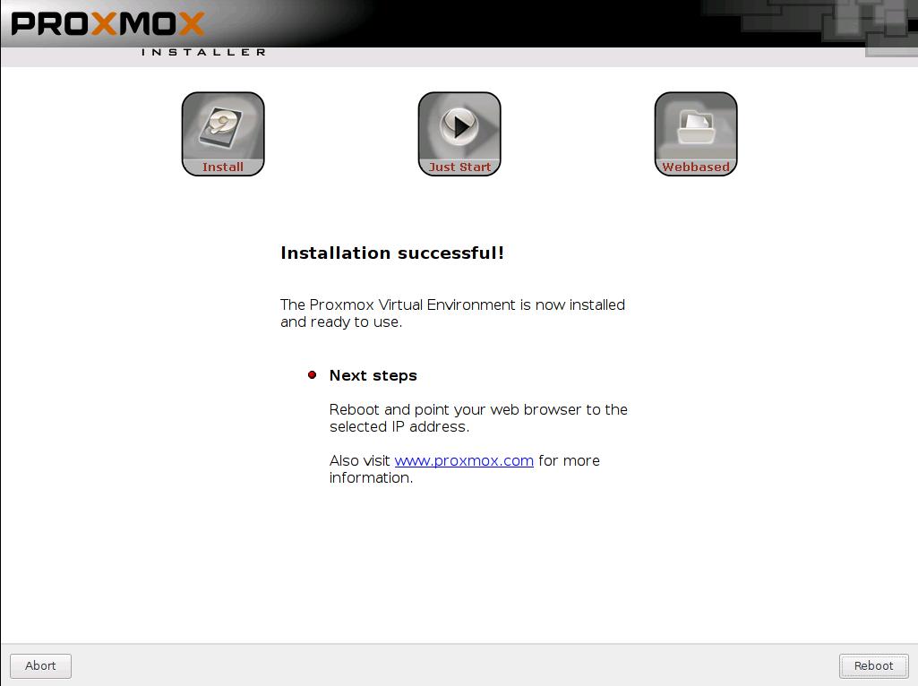 install proxmox 4.0 sukses