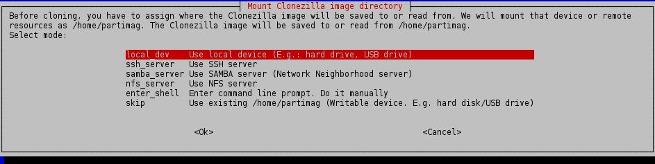 local_dev clonezilla